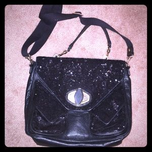 Gorgeous sequined and leather bag